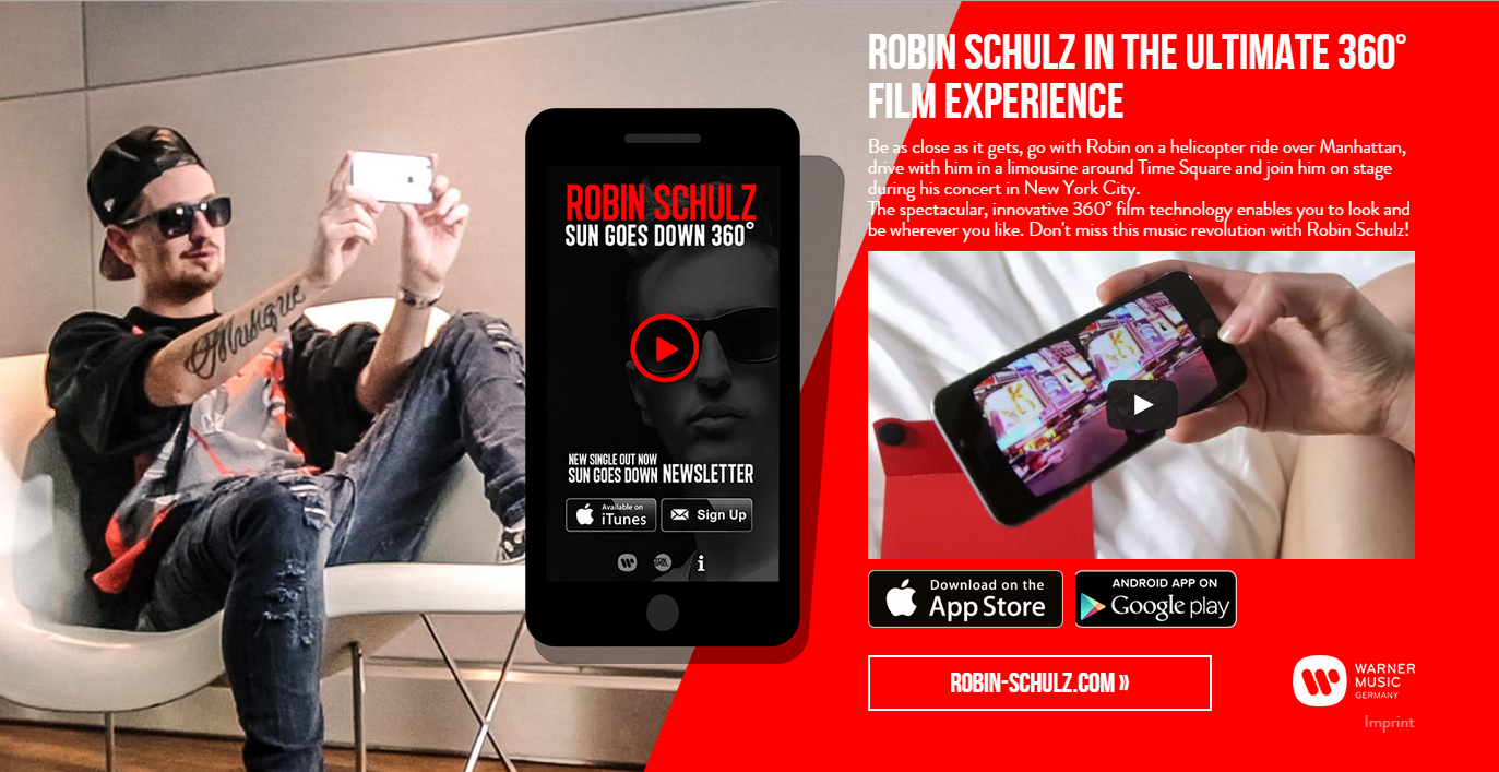 Robin Schulz - 360° Video production by FinCloud.tv