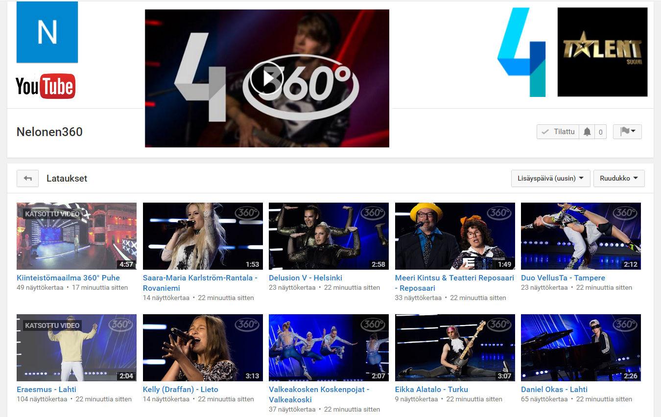 Nelonen Talent 360° video production FinCloud Ltd.
